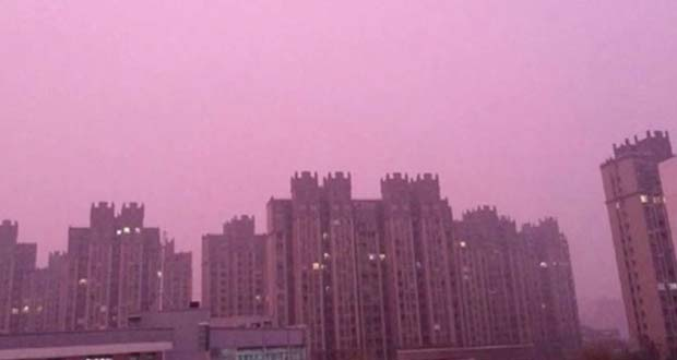 Photo of Conmoción en China por inusual cielo «color rosa»