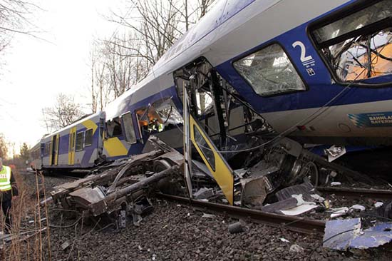 Accidente de tren en Alemania
