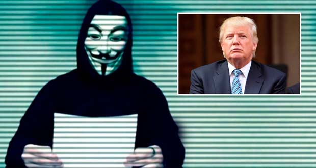 "Photo of Anonymous declara la ""guerra total"" contra Donald Trump"