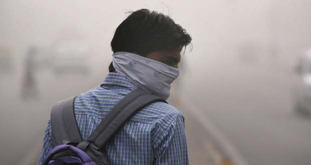 "Photo of Los residentes de Delhi amanecieron en pánico por el regreso del ""smog mortal"""