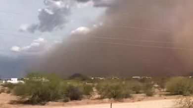 Photo of Una tormenta de arena 'apocalíptica' azota el desierto en Arizona