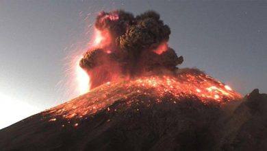 Photo of El volcán Popocatépetl expulsa fragmentos incandescentes